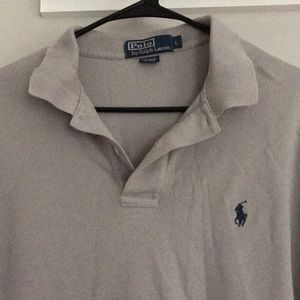 Men's gray polo